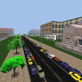 Link to the page about the traffic simulator project